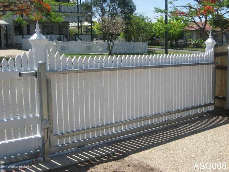 Picket Fences Brisbane White Pickets